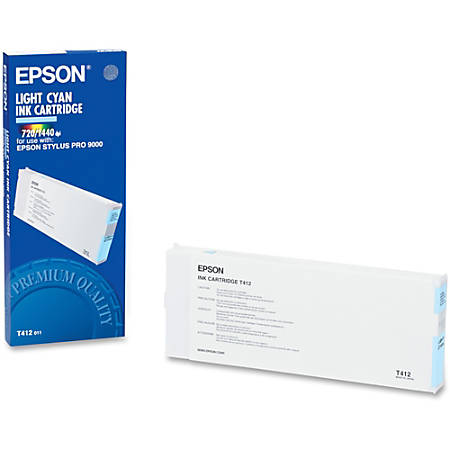Epson T412 - Light cyan - original - ink tank - for Stylus Pro 9000