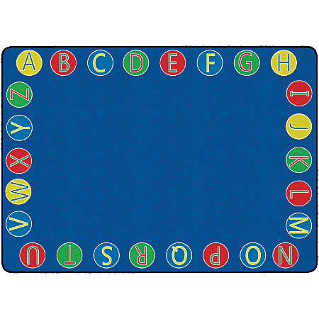 "Flagship Carpets Alphabet Circles Rug, 6' x 8' 4"", Multicolor"