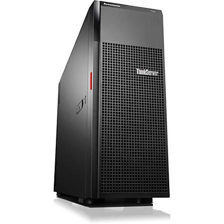 "Lenovo ThinkServer TD350 70DG - Server - tower - 4U - 2-way - 1 x Xeon E5-2670V3 / 2.3 GHz - RAM 8 GB - SAS - hot-swap 3.5"" - no HDD - DVD-Writer - AST2400 - GigE - no OS - monitor: none - TopSeller"