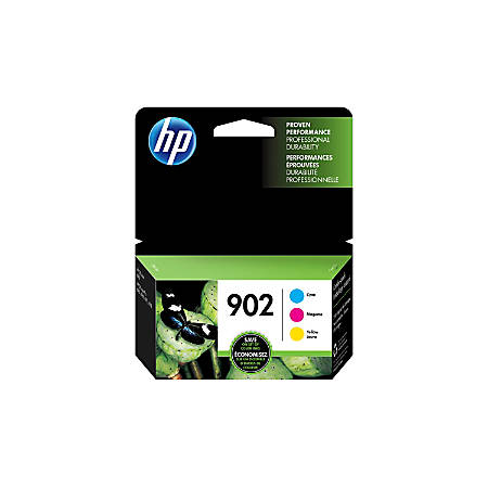 HP 902 Cyan/Magenta/Yellow Ink Cartridges (T0A38AN#140), Pack Of 3