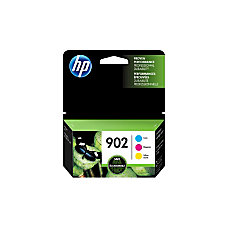 HP 902 CyanMagentaYellow Ink Cartridges T0A38AN140