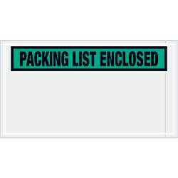 Tape Logic Preprinted Packing List Envelopes