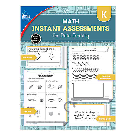Carson-Dellosa Instant Assessments For Data Tracking Math Resource Book, Grade K