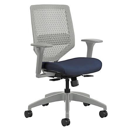 HON® Solve Fabric Mid-Back Task Chair, Midnight/Titanium