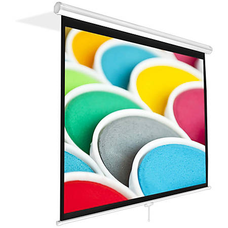 """PylePro PRJSM1006 99.8"""" Manual Projection Screen - Yes - 4:30 - Matte White - 59.8"""" x 79.9"""" - Wall Mount, Ceiling Mount"""