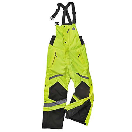 Ergodyne GloWear® 8928 Class E Hi-Vis Insulated Bib, Large, Lime