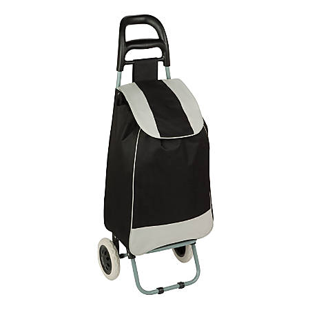 "Honey-Can-Do Rolling Knapsack Bag Cart, 36 5/8""H x 13 3/8""W x 10 1/4""D, Black"