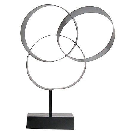 "Realspace™ Halos Desktop Figurine, 13""H x 10""W x 4""D, Silver"