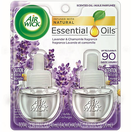Air Wick Scented Oils - Oil - 0.67 oz - Lavender, Chamomile - 12 / Carton