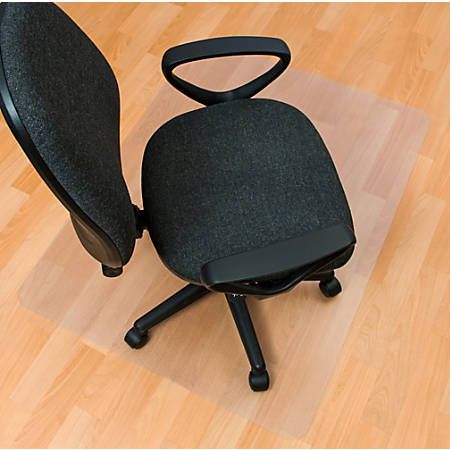 "Floortex Ecotex Polymer Hard Floor Chair Mat, Rectangular, 30""W x 48""D, Clear"