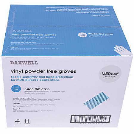 Vinyl Gloves, Medium, Box Of 1,000