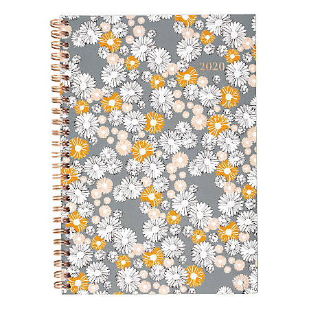 "Cambridge® Chamomile Weekly/Monthly Planner, 5-1/2"" x 8-1/2"", January To December 2020, 1266-200"
