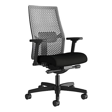 HON® Ignition ReActive Mid-Back Task Chair, Black