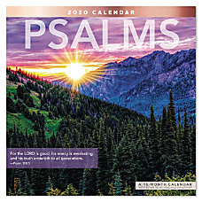 Mead Psalms Monthly Wall Calendar 12