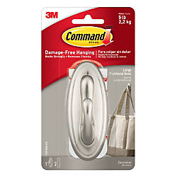 Command Traditional Hook Large Brushed Nickel
