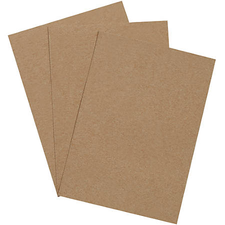 """Office Depot® Brand Chipboard Pads, 5"""" x 7"""", 100% Recycled, Kraft, Case Of 1,125"""