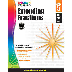 Spectrum Extending Fractions Workbook Grade 5