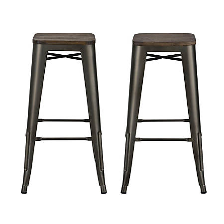 Stupendous Dhp Fusion Backless Bar Stool Brown Item 762924 Ibusinesslaw Wood Chair Design Ideas Ibusinesslaworg