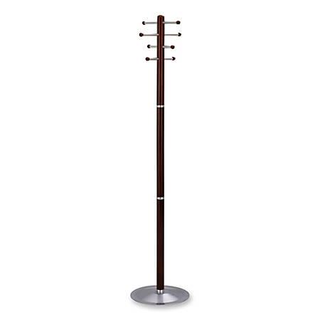 """Safco Free-Standing 8-Hook Wood Costumer, 69""""H x 15"""" Diameter, Cherry"""