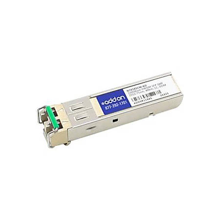 AddOn Ciena NTK585CW Compatible TAA Compliant 1000Base-DWDM 100GHz SFP Transceiver (SMF, 1555.75nm, 80km, LC, DOM)