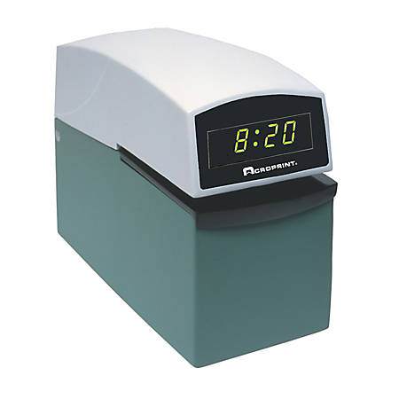 Acroprint Digital Face Heavy-Duty Electric Time Stamp