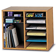Safco Wood Adjustable Organizer 16 18