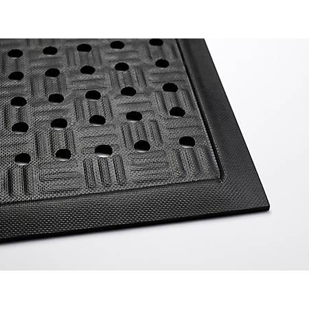 M + A Matting Cushion Station With Holes, 3 3/16' x 12 5/16', Black