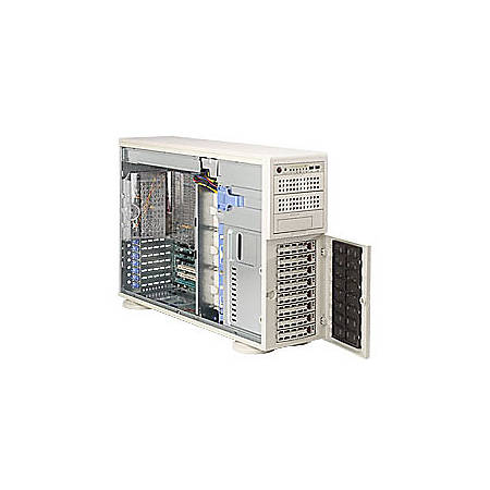 Supermicro A+ Server 4021M-82R+B Barebone System - nVIDIA MCP55 Pro - Socket F (1207) - Opteron (Dual-core) - 1000MHz Bus Speed - 64GB Memory Support - Gigabit Ethernet - 4U Tower