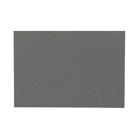 """LUX Flat Cards, A7, 5 1/8"""" x 7"""", Smoke Gray, Pack Of 500"""