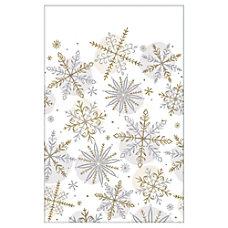 Amscan Christmas Snowflake Paper Table Covers