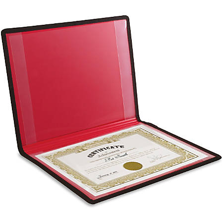 "Anglers Diploma and Certificate Holder - 12"" x 9"" Sheet Size - 2 Internal Pocket(s) - Polypropylene - Black - 12.96 oz - 1 Each"