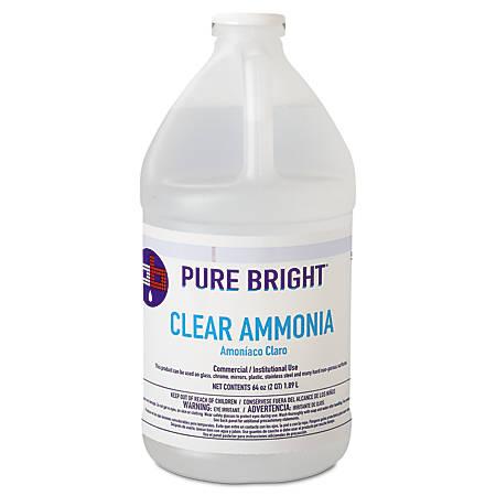 Pure Bright® Clear Ammonia, 64 Oz, Carton Of 8