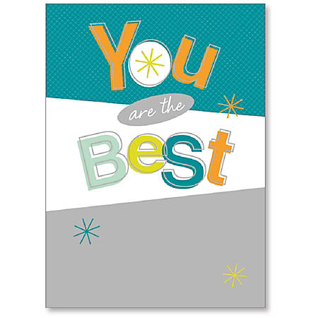 "Viabella Thank You Greeting Card, You Are The Best, 5"" x 7"", Multicolor"