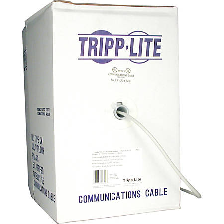Tripp Lite 1000ft Cat5 / Cat5e 350MHz Bulk Stranded-Core PVC Cable Gray 1000' - 1000ft - Gray