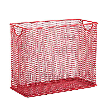 """Honey-Can-Do Tabletop Hanging File Organizer, 9 7/8""""H x 12 1/2""""W x 5 1/2""""D, Red"""