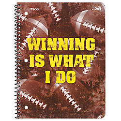 Mead Sports Spiral Bound Notebooks 9