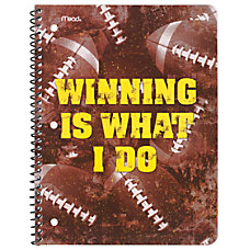 Mead Sports Spiral Bound Notebooks 9
