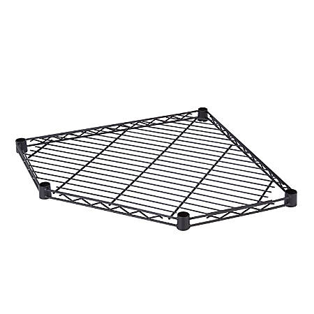Honey-Can-Do 5-Side Corner Shelf, Black