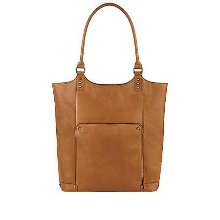 "Solo® Vestry 15.6"" Bucket Tote With 15.6"" Laptop Pocket, Tan"