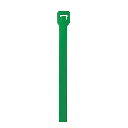 "Office Depot® Brand Colored Cable Ties, 40 Lb, 5-1/2"", Green, Case Of 1,000 Ties"