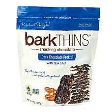 barkTHINS Dark Chocolate Pretzels With Sea