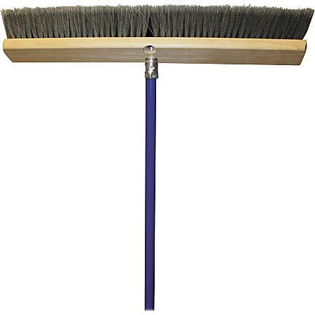 "Genuine Joe All Purpose Sweeper - Polypropylene Bristle - 24"" Width x 60"" Metal Handle - 1 Each"