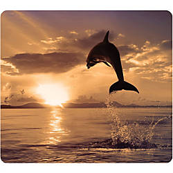 Fellowes Recycled Optical Mouse Pad Dolphin