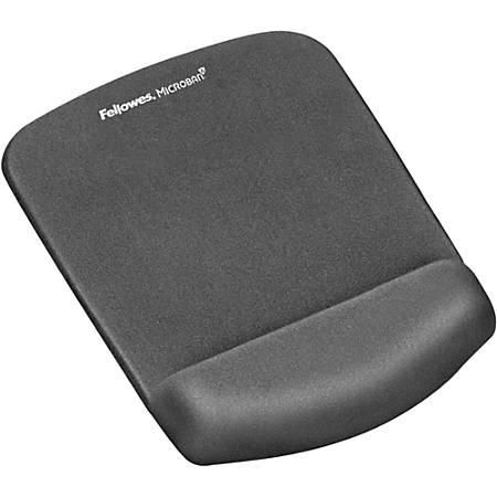 "Fellowes PlushTouch™ Mouse Pad Wrist Rest with Microban® - Graphite - 1"" x 7.3"" x 9.4"" Dimension - Graphite - Polyurethane, Foam - Wear Resistant, Tear Resistant, Skid Proof"