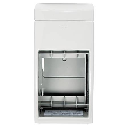 "Bobrick Washroom Matrix Series 2-Roll Tissue Dispenser, 13 1/2""H x 6 1/4""W x 6 9/10""D, 80% Recycled, Gray"