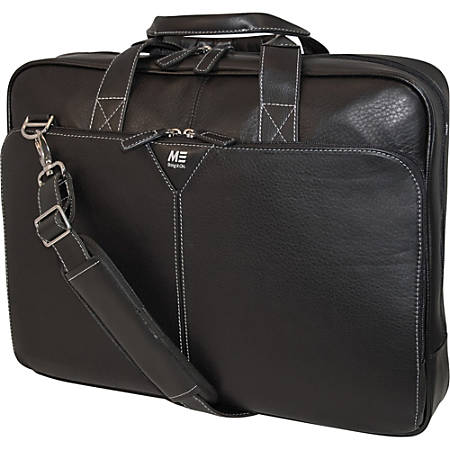 "Mobile Edge Deluxe Leather Briefcase - Notebook carrying case - 16"" - black"