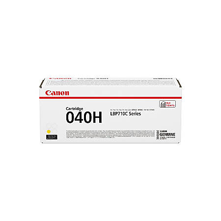 Canon CRG-040HYEL Toner Cartridge - Yellow - Laser - High Yield - 10000 Pages