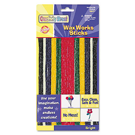 "Creativity Street Wax Works Sticks, 8"", Bright Hues, Pack Of 48"