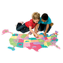 WonderFoam Giant USA Puzzle Map 48