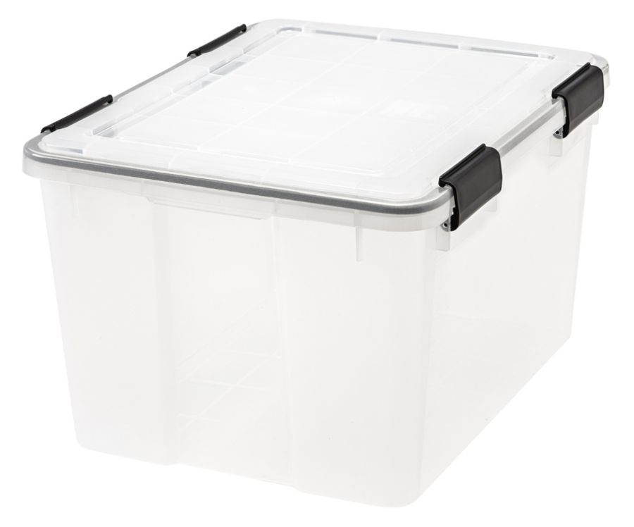 Iris WEATHERTIGHT Storage Box 46 Quarts 11 45 H x 15 45 W x 19 710 D
